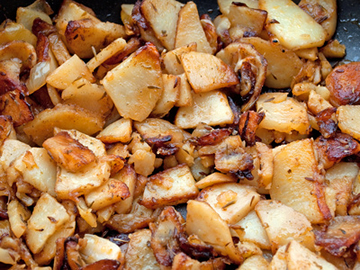 Pan Fried Potatoes with Bacon